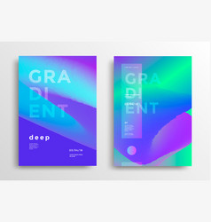 Trendy covers with gradient shapes vector