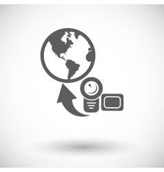 Upload video vector