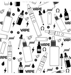 Vape shop or e-cigarette store seamless pattern vector