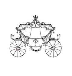 Vintage carriage - doodle icon vector