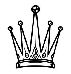 vintage monochrome tattoo royal crown vector image