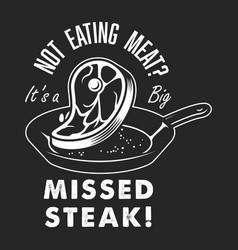 vintage steak cooking logo vector image