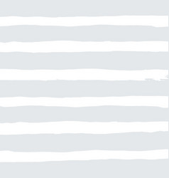 Watercolor white stripes background on gray vector