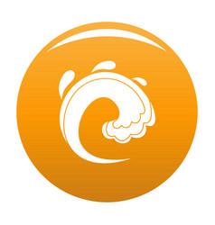 wave water tsunami icon orange vector image