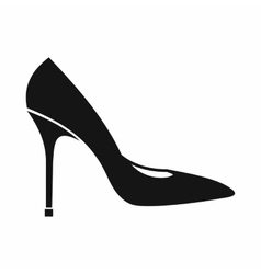 Women shoe with high heels icon simple style vector