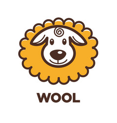 wool sheep icon for knitting handicraft or vector image