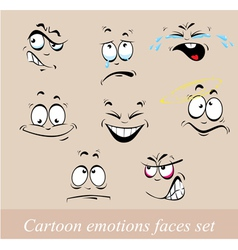 Emotions faces set vector