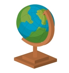 planet earth school isolated icon design vector image