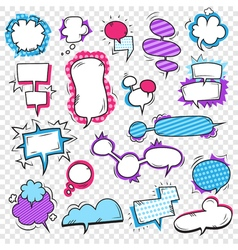 Pop Art Bubbles Set vector image vector image