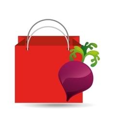 red bag buying beet vegetable vector image