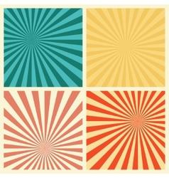 Sunburst Retro Textured Grunge Background Set vector image