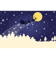 Christmas templateSilhouette Santa Claus coming vector image vector image