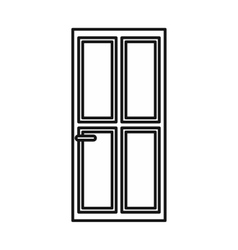 Closed wooden door icon outline style vector image