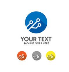 electronic logo vector image