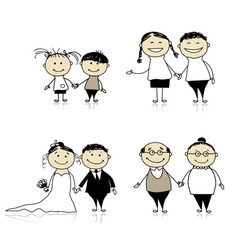 Family relationship vector image vector image