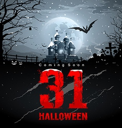 Happy halloween coming soon red message vector image vector image