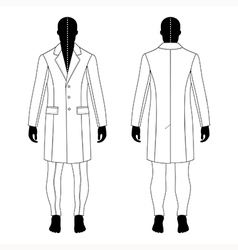 man black silhouette figure in a coat vector image vector image