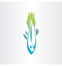 plant fish jump in water vector image vector image