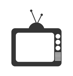 Retro Television isolated flat icon vector image