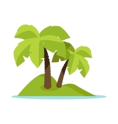 Tropic Island Concept Banner vector image