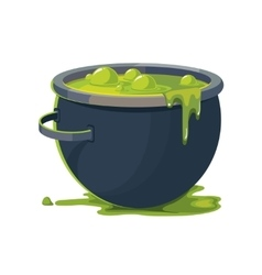 Witch Cauldron vector image vector image