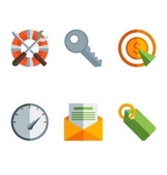 Abstract flat of technology vector image