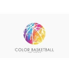 Basketball ball logo Basketball sport Ball logo vector image