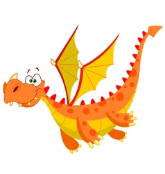 flying dragon vector image