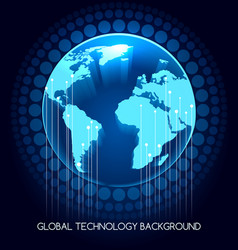 global technology background vector image