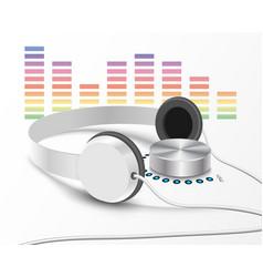 headsphones and volume controler 2 vector image