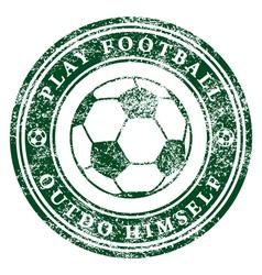 Play Football vector image vector image