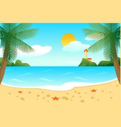 tropical beach landscape template vector image vector image