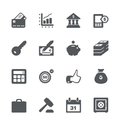 Finance and business icon set vector image