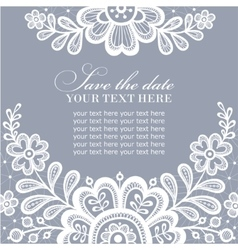 White lace design vector image vector image