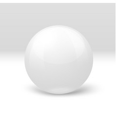 3d realistic marble ball isolated on white vector