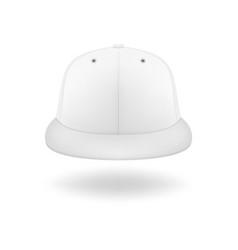 3d realistic render white blank baseball vector