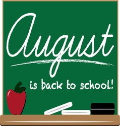 August School vector