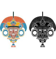 Aztec stencil 2 vector image