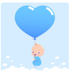baboy with balloon vector image