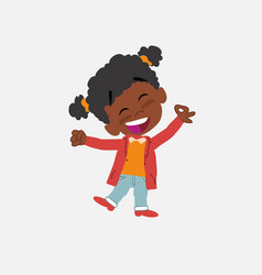 Black girl exulting in happiness vector