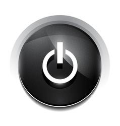 black power button vector image