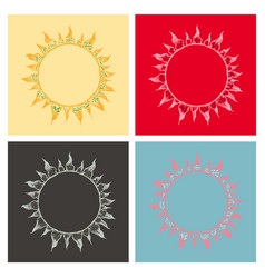 Blood cells circle background in flat style vector