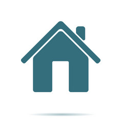 blue home icon isolated on background modern flat vector image