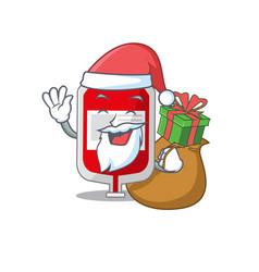 Cartoon design blood plastic bag santa having vector
