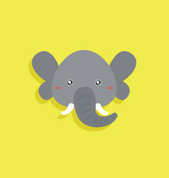 Cartoon elephant face vector
