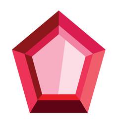 cartoon realistic gems jewels diamond brilliant vector image