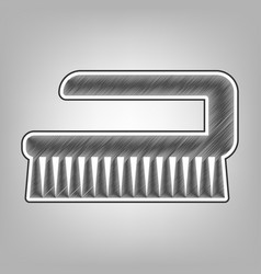 Ceaning brush hygiene tool sign pencil vector