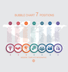 Charts infographic step step 7 positions vector