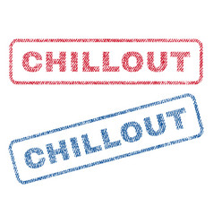 Chillout textile stamps vector