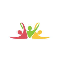 Colorful abstract people fitness gym training logo vector